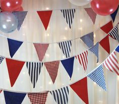 Nautical beach hut style bunting banner spots by Dollyblue11