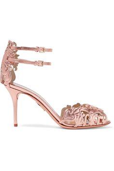 Charlotte Olympia Margherita laser-cut metallic leather sandals