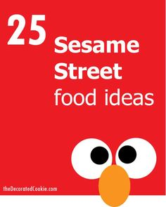Roundup of Sesame Street food ideas for your kid's party. Fun food ideas with Cookie Monster, Big Bird, Elmo, Oscar and more. Elmo Birthday, Twin Birthday, First Birthday Parties, Birthday Celebration, Birthday Party Themes, Birthday Ideas, Dinosaur Birthday, Happy Birthday, Sesame Street Food