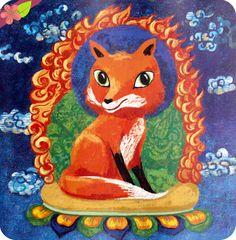 Le vieux tigre et le petit renard Texte de Véronique Massenot Illustrations de Peggy Nille Publié en 2015 par les éditions l'élan vert