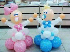 Baby Shower Balloon Decorations, Ballon Decorations, Baby Balloon, Balloon Centerpieces, Baby Shower Balloons, Baby Shower Deco, Baby Shower Parties, Baby Shower Themes, Baby Boy Shower