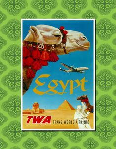 Egypt Travel Poster Wall Decor 7 print sizes by TheWorldTravelers, $6.99