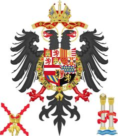 Middle Coat of Arms of Charles V Holy Roman Emperor, Charles I as King of Spain.svg