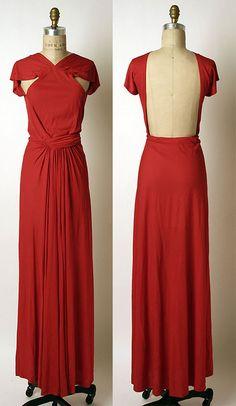 Madame Grès silk evening dress, 1970