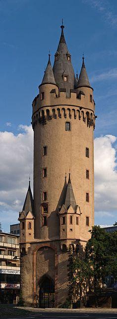 """Eschenheimer Turm (Eschenheim Tower) - A city gate part of the late-medieval fortifications of Frankfurt - Germany"