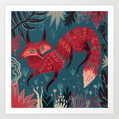 'Fox Art Print by Karl James Mountford Fox Art, Arte Popular, Canvas Prints, Art Prints, Book Illustration, Banners, Illustrators, Concept Art, Art Photography