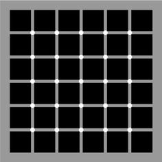 Picture of Optical Illusion - Mysterious Black Dots