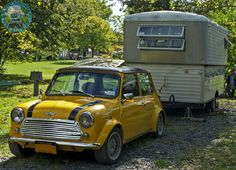 Tuck In Time! Closing the show tonight is a wicked Mini and Pop-up Caravan from our friends over the pond. Love the look on the caravan, very unusual. Goodnight people.