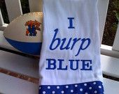 Embroidered burp cloth - just the wrong shade of blue...lol