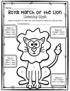 47 Best Carnival of the Animals Lesson Plans, Listening