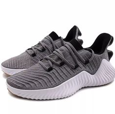 b8fec95c5de Adidas Alpha Bounce Trainers Sneaker Shoes Mens 10.5 Gray Black BB6949