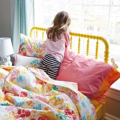 loving the jenny lind bed in yellow. we have it in white before they started with all the a great colors