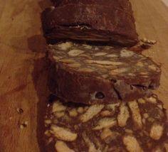 Mammarum: Salame di cioccolato senza uova, burro e zucchero aggiunto, ma buono da morire!