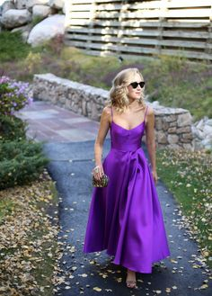 fall color dress wedding