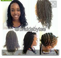 American and African Hair Braiding : Crochet braids are cool. Crotchet Braids, Crochet Braid Styles, Crochet Hair, Crochet Twist, Crochet Micro Braids, African Braids Hairstyles, Braided Hairstyles, Locs, Curly Hair Styles
