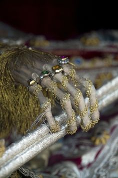 Hand of St. Valentin (Bad Schussenried, Germany) | 19 Bejeweled Skeletons That'll Blow Your Mind