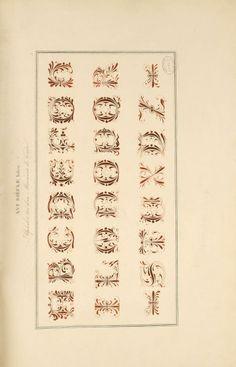 Alphabet-Album: Collection de soixante feuilles d'alphabets historiés et fleuronnés, tirés des principales bibliothèques de l'Europe. Published 1843 by J. Techener in Paris.