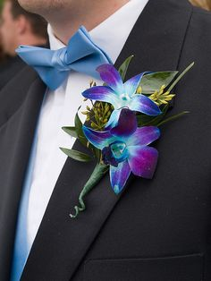 Blue Orchid- I had these for prom and they were beautiful!