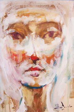 "Saatchi Online Artist: Mostafa Sleem; Acrylic 2012 Painting ""Nefertiti"""