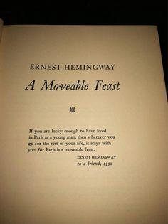 Hemingway and Paris.