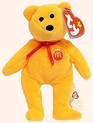 b99b1ea3765 Golden Arches the Bear - Ty Teenie Beanie Babies - McDonalds promotion USA  2004