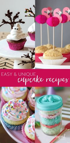Want some easy and unique cupcake recipes? I've put together a list of my favorite unique cupcake recipes to surprise and delight. Mini Desserts, Trifle Desserts, Oreo Dessert, Purple Velvet Cupcakes, Classic Cupcake Recipe, Cupcake Recipes, Dessert Recipes, Baking Recipes, Purple Food Coloring