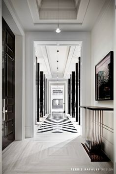 Diy Art Deco Home Decor . 40 Lovely Diy Art Deco Home Decor . 45 Best Re Ended Art Deco Interior Design Ideas for Your Home Lobby Design, Black And White Hallway, Black And White Interior, Black White, Black Doors, Black And White Flooring, White House Interior, Floor Design, Ceiling Design