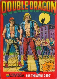 Double Dragon Cover Art (Atari 2600) #retrogaming