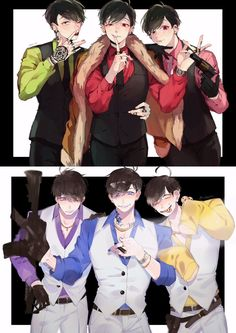 from the story [Doujinshi][ Yaoi][ Couple] Osomatsu-san ? Anime Sexy, Dark Anime Guys, Hot Anime Boy, Anime Love, Couples Anime, Character Art, Character Design, Osomatsu San Doujinshi, Estilo Anime