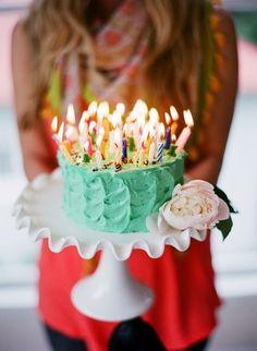 hmmm... I wonder how many candles are on that cake. I'm thinking 53? (happy birthday mom)