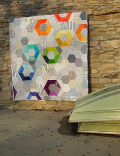 Modern Patchwork - Color Girl Quilts by Sharon McConnell - This design would also be beautiful smaller as EPP!