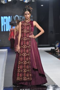 Embroidered fold-over front panel - Sonia Azhar