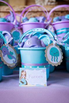 Lavender & Aqua Mermaid and Girly Sea Animal by AngiesDesignz
