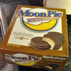 Moon Pie ~ Sister's monkey got lost when we lived on Dauphine. Owner of grocery found her on counter eating a Moon Pie (it was banana flavor, I kid you not) :D @Lori Cline Doherty