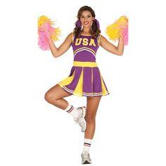Disfraz de Animadora Americana para Mujer #DisfracesAdulto #DisfracesMujer #DisfracesDeporte