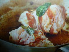 un mondo di ricette: involtini di pollo ripieni - ai funghi e asiago