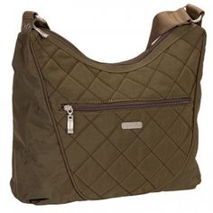 Baggallini Dark Olive Quilted Crossbody Drifter Bagg www.BagLane.com