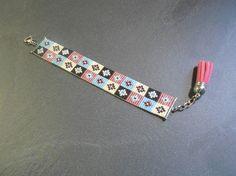 Bracelet Manchette mosaïque ! : Bracelet par thedreamfactory sur ALittleMarket