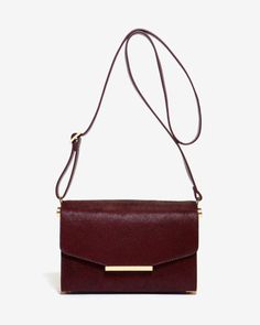 Textured leather cross body bag - Oxblood | Bags | Ted Baker