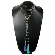 Collar de Moda con Perla, Cadena de Aluminio y Motitas