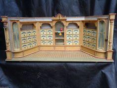 VERY RARE ANTIQUE LARGE GERMAN DOLL HOUSE 1880s GERMAN GOTTSCHALK CORNER SHOP in Dolls & Bears, Dollhouse Miniatures, Doll Houses | eBay