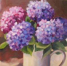 Beautiful Hydrangea oil painting (via Nel's Everyday Painting Blog)