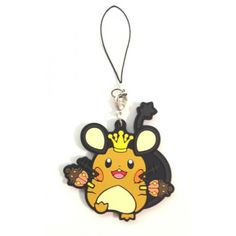 Pokemon Center 2014 Halloween Spooky Party Dedenne Rubber Strap