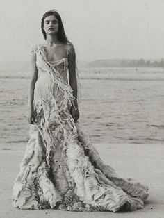 Alexander McQueen Oyster Dress. Only about thirty thousand dollars!