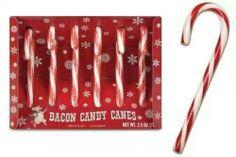 Bacon candy cane