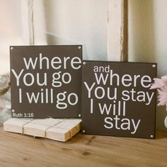Urban Soul Where You Go, I Will Go - Wall Art, Set of 2 - Our wedding vows!