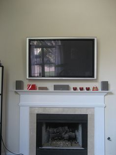 Flat Screen TV Mounted Above Fireplace With Storage Beside. Different  Colors Though. | Basement | Pinterest | Storage, Fireplace Windows And  Living Rooms