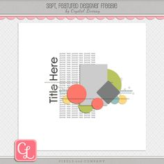 Quality DigiScrap Freebies: Template freebie from Crystal Livesay