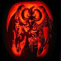 Diablo II (Geek Pumpkins) check out the rest at:  37 The Most Creative Video Game Inspired Pumpkin Carvings | Shelterness