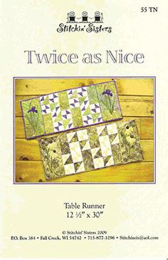Twice as Nice Table Runner Pattern by GabbysQuiltsNSupply on Etsy, $8.50